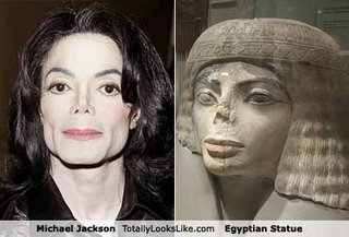 Michael Jackson & Egyptian statue